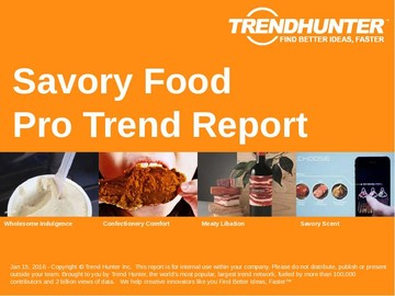 Savory Food Trend Report and Savory Food Market Research