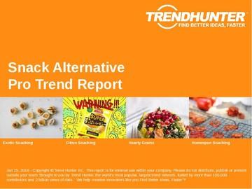 Snack Alternative Trend Report and Snack Alternative Market Research