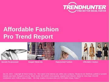 Affordable Fashion Trend Report and Affordable Fashion Market Research