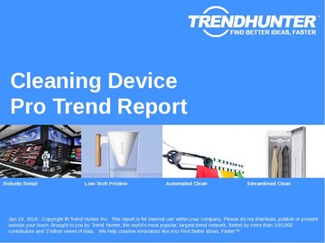 Cleaning Device Trend Report and Cleaning Device Market Research