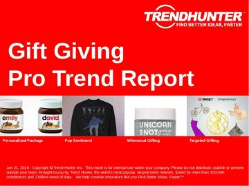 Gift Giving Trend Report and Gift Giving Market Research