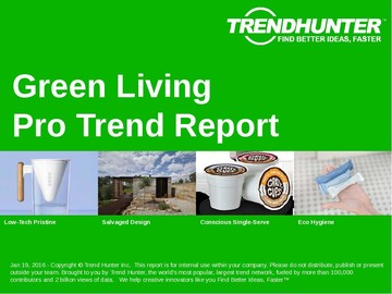 Green Living Trend Report and Green Living Market Research