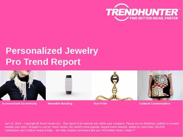 Personalized Jewelry Trend Report and Personalized Jewelry Market Research