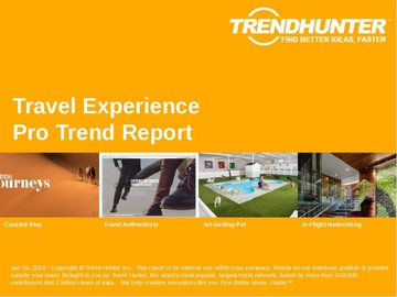 Travel Experience Trend Report and Travel Experience Market Research