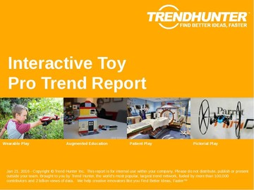 Interactive Toy Trend Report and Interactive Toy Market Research