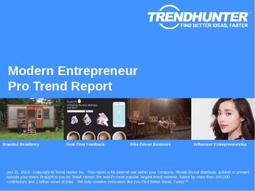 Modern Entrepreneur Trend Report and Modern Entrepreneur Market Research