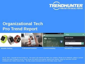 Organizational Tech Trend Report and Organizational Tech Market Research