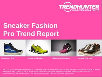 Sneaker Fashion Trend Report and Sneaker Fashion Market Research