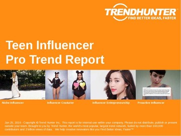 Teen Influencer Trend Report and Teen Influencer Market Research