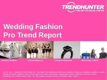 Wedding Fashion Trend Report and Wedding Fashion Market Research