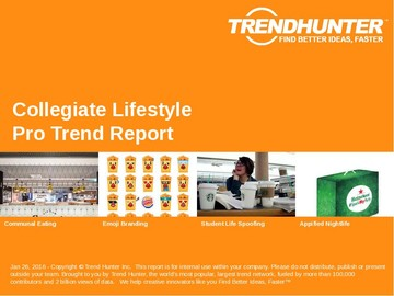 Collegiate Lifestyle Trend Report and Collegiate Lifestyle Market Research