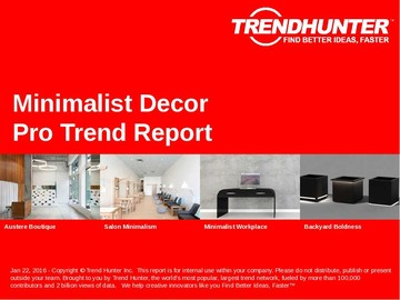 Minimalist Decor Trend Report and Minimalist Decor Market Research