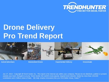 Drone Delivery Trend Report and Drone Delivery Market Research