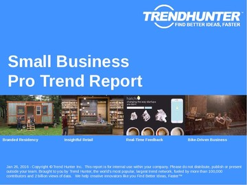 Small Business Trend Report and Small Business Market Research