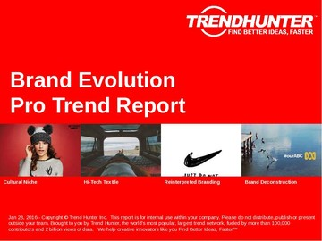 Brand Evolution Trend Report and Brand Evolution Market Research