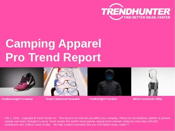 Camping Apparel Trend Report and Camping Apparel Market Research