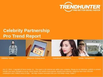 Celebrity Partnership Trend Report and Celebrity Partnership Market Research