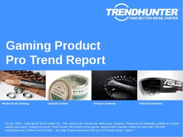 Gaming Product Trend Report and Gaming Product Market Research