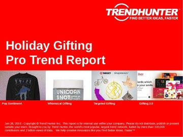 Holiday Gifting Trend Report and Holiday Gifting Market Research