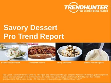 Savory Dessert Trend Report and Savory Dessert Market Research