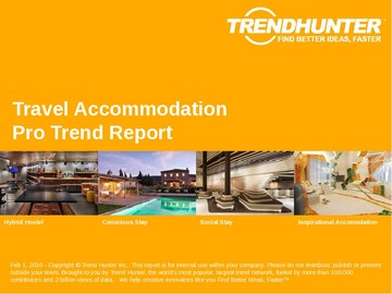 Travel Accommodation Trend Report and Travel Accommodation Market Research