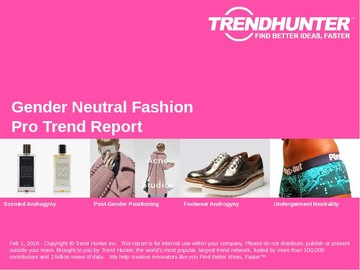 Gender Neutral Fashion Trend Report and Gender Neutral Fashion Market Research