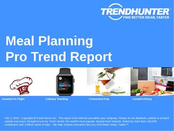 Meal Planning Trend Report and Meal Planning Market Research