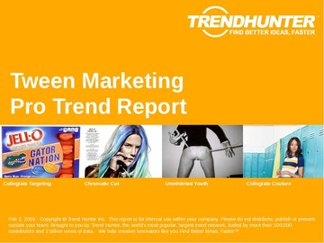 Tween Marketing Trend Report and Tween Marketing Market Research