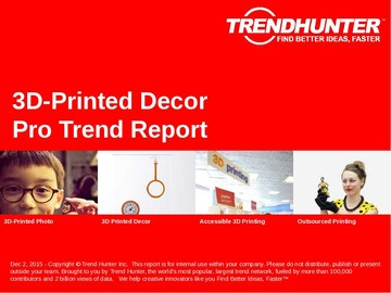 3D-Printed Decor Trend Report and 3D-Printed Decor Market Research