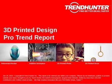 3D Printed Design Trend Report and 3D Printed Design Market Research