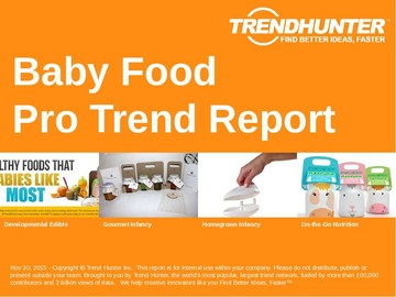 Baby Food Trend Report and Baby Food Market Research