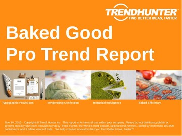 Baked Good Trend Report and Baked Good Market Research
