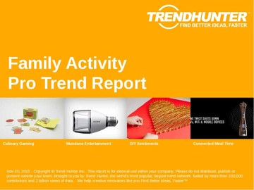 Family Activity Trend Report and Family Activity Market Research