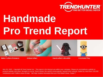 Handmade Trend Report and Handmade Market Research