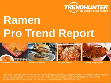 Ramen Trend Report and Ramen Market Research