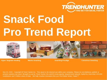 Snack Food Trend Report and Snack Food Market Research