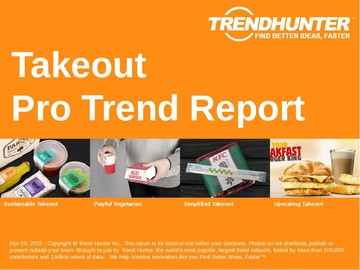 Takeout Trend Report and Takeout Market Research