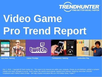 Video Game Trend Report and Video Game Market Research