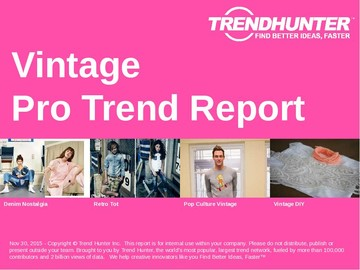 Vintage Trend Report and Vintage Market Research