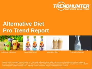 Alternative Diet Trend Report and Alternative Diet Market Research
