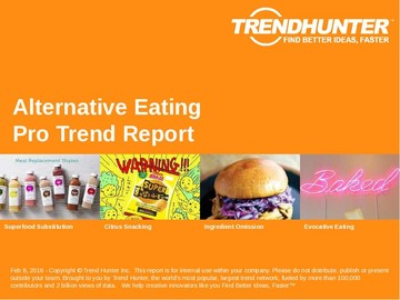 Alternative Eating Trend Report and Alternative Eating Market Research