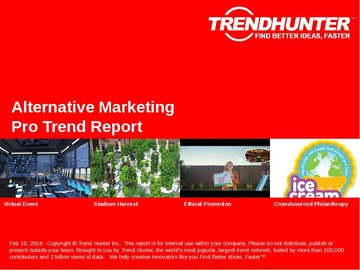 Alternative Marketing Trend Report and Alternative Marketing Market Research