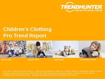 Children's Clothing Trend Report and Children's Clothing Market Research