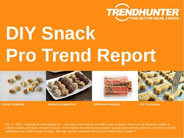 DIY Snack Trend Report and DIY Snack Market Research
