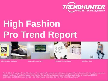 High Fashion Trend Report and High Fashion Market Research