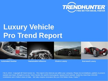 Luxury Vehicle Trend Report and Luxury Vehicle Market Research