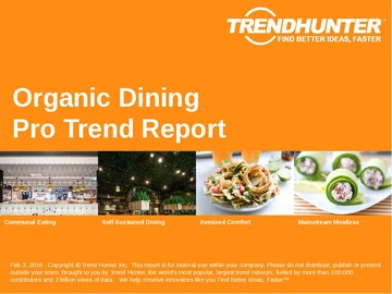 Organic Dining Trend Report and Organic Dining Market Research
