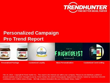 Personalized Campaign Trend Report and Personalized Campaign Market Research