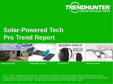 Solar-Powered Tech Trend Report and Solar-Powered Tech Market Research