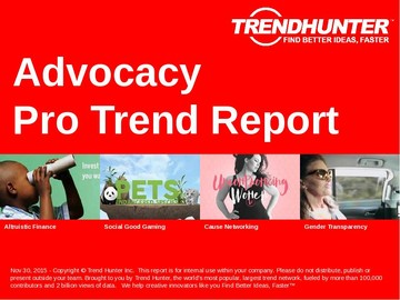 Advocacy Trend Report and Advocacy Market Research
